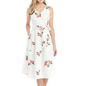 New Calvin Klein white eyelit embroidered dress 6